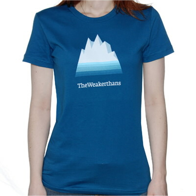 The Weakerthans - Iceberg Womens Tee (AA Organic Galaxy Blue)