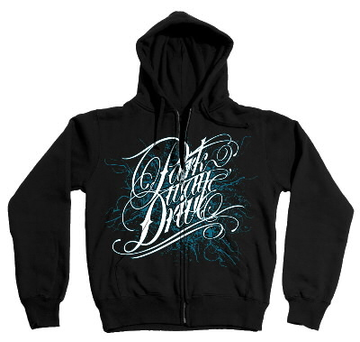 Parkway Drive - Deep Blue Zip-Up Hoodie (Black)