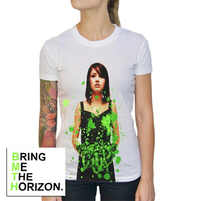 Bring Me The Horizon - Womens Suicide Season Shirt (Green)