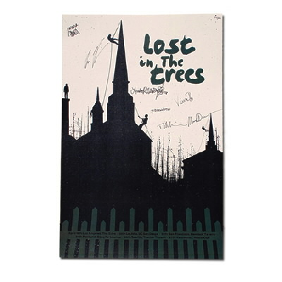 Lost In The Trees - A Church Silhouette Signed - Poster