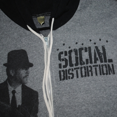 social-distortion - Machine Gun Two-Tone Zip Up Hoodie