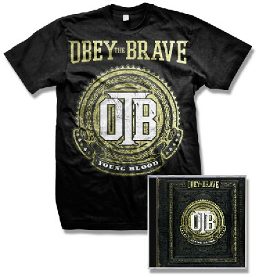 Obey The Brave - Young Blood CD & Crest Shirt