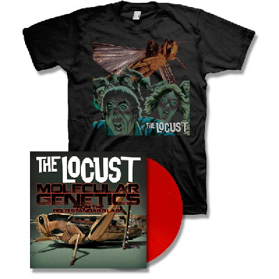The Locust - Molecular Genetics From The Gold Standard Labs LP (Red) & Self Titled Shirt