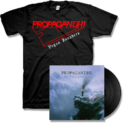Propagandhi - Failed States LP - Black & Razor Tee