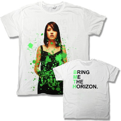 Bring Me The Horizon - Green Suicide Season Deluxe Tee (White)