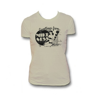 mike-ness - Mike Ness Greetings From Womens T-Shirt (Tan)