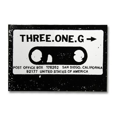 three-one-g - Cassette Sticker - 4""