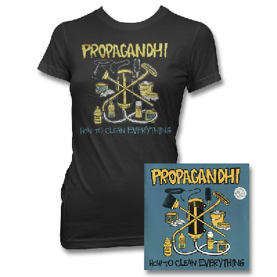 Propagandhi - Women's How To Clean Everything - Remastered CD & Album Tee