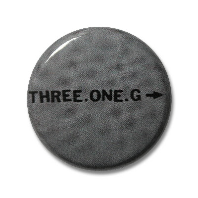 "three-one-g - 1"" Logo Button"