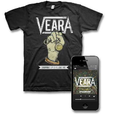Veara - Growing Up Is Killing Me - Digital Download & Tee